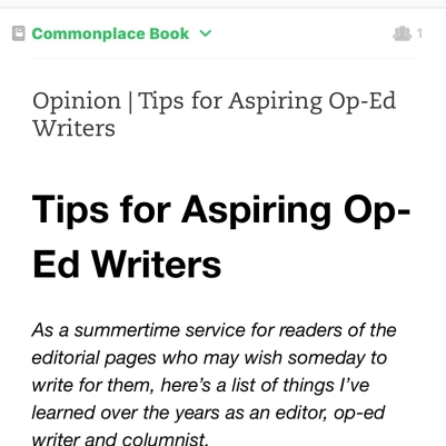 OpEd Advice