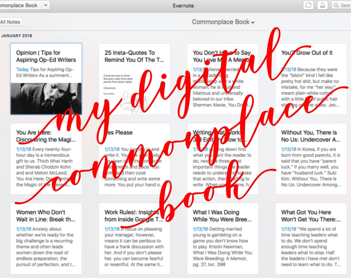 My Digital Commonplace Book